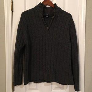 Grey Lambs Wool Gap Men's Sweater XL
